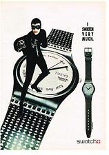 PUBLICITE advertising 1990     montre Swatch