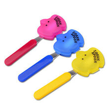 Truyoo Children Stainless Spoon Utensil Reusable With Elephant Case