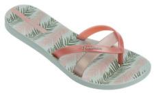 Ipanema Women`s Flip Flops Kirei Silk III Sandal Green and Rose Sandals NWT