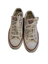 CONVERSE ALL STAR LADIES WHITE CANVAS PUMPS SIZE UK 6