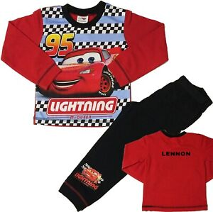Boys Disney Cars Pyjamas Lightning McQueen Pjs Can Be Personalised With Name