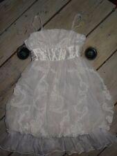 Robe blanche à fleurs pour cérémonie mariage ou baptême ou soirée Taille 4 ans