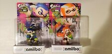 Amiibo Splatoon Inkling Girl and Boy Nintendo WiiU Switch 3DS Figures Lot of 2