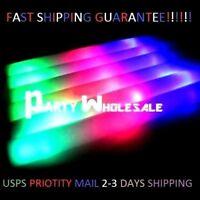 24 PCS Light Up Foam Sticks LED Wands Rally Rave Batons DJ Flashing Glow Stick