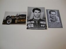 3 WORLD CHAMPIONS SIR JACK BRABHAM DAMON HILL NIGEL MANSELL SIGNED PHOTOS