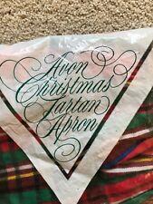 New listing Vintage Avon 1986 Red Green Yellow Plaid Full Length Christmas Tartan Apron New