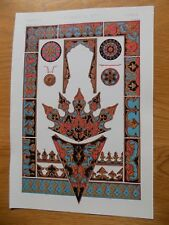 Original Book Print Grammar of Ornament Owen Jones 13x9 Inch Turkish 1