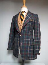 Vintage 1978 Polo Ralph Lauren Plaid Full Canvas Silk sport coat 38 R