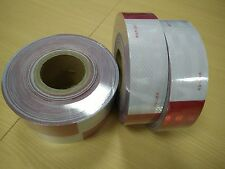 AAA 10' Roll  Meets DOT C2 FMVSS 108 REFLECTIVE CONSPICUITY RED WHITE TAPE