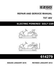 EZ Go E-Z-GO 2010-2013 TXT Electric Freedom Fleet Golf Cart service manual on CD