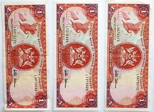 Lot 3 billets 1 Dollar Trinidad Tobago (CJ147)