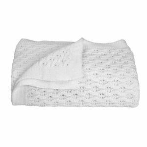 Living Textiles Baby Shawl White