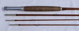 Vintage HEDDON Split Bamboo Fly Fishing Rod 2-Tips 2-Socks Nice Action Excellent