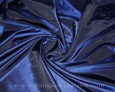 """5YDS LOT MIDNIGHT BLUE FUAX SILK TAFFETA FABRIC 60""""W CRAFT DRESS DRAPE SKIRT"""