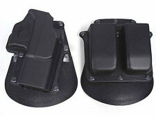 New Style Tactical Airsoft Holster & Mag Pouch Set For Glock 17 (Black)
