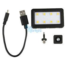 JJC LED-8 Mini Video Light for DSLR Camera Phone with hot shoe / 3.5mm jack USB