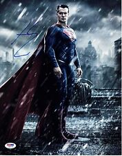 HENRY CAVILL SIGNED SUPERMAN JUSTICE LEAGUE PHOTO 11X14 AUTOGRAPH PSA BAS COA