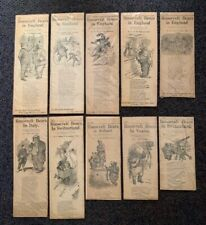 RARE! (10) 1907 TEDDY ROOSEVELT BEARS NEWSPAPER ARTICLES ON THEIR ADVENTURES-WOW