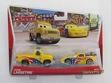 Disney Pixar Cars 2 JOHN LASSETIRE HEADSET JEFF GORVETTE WGP Hot Wheels CB-2PK