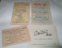 WW2 EGYPT Vintage BUSINESS CALLING CARDS  Ex Military Man
