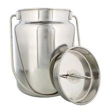 Rural365 Metal Milk Jug Stainless Steel Jug Metal Milk Can Milk Bottle with Lid