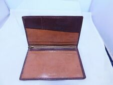 Vintage Real Calfskin Leather Wallet Zipped Inner Pocket ~ £5 £1 10/- Sections
