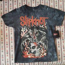 Slipknot Skull Flames Tie Dye T-shirt Medium Size Bravado Official + Wristband