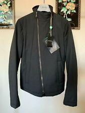 New $1140 Prototype Emporio Armani Padded Asymmetric Biker Jacket - IT 48 US 38
