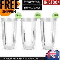 3 x Large Tall Colossal Blender cups for NutriBullet 600 900w Blender Parts