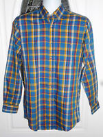 Towncraft Men's Small Long Sleeve Button Down Multi Color Plaid Shirt Sz S
