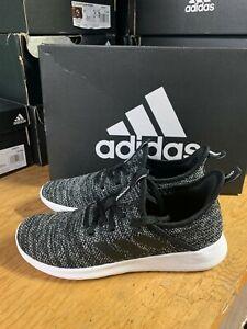 NEW Women's Adidas Cloadfoam Pure DB0694 Black White Athletic Shoe Pick Size