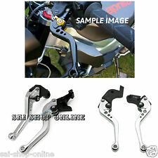 Silver Black 6-Position Adjustable Brake Clutch Levers for ROYAL ENFIELD Bullet*