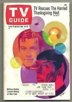 TV GUIDE-11/1967-STAR TREK-WILLIAM SHATNER-LEONARD NIMOY-CHICAGO METRO EDITION