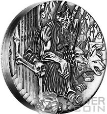 HADES Gods of Olympus High Relief Rimless 2 Oz Silver Coin 2$ Tuvalu 2014