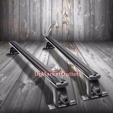 "Universal Fit 48"" Aero Bar Black Roof Rack Luggage/Bag Cargo Rail Crossbar Bar"