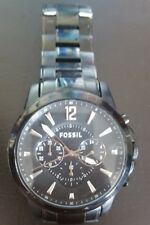 FOSSIL Grant Chronograph Black Dial Black IP Stainless Steel Men's Watch
