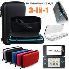 3 In 1 Carrying Case Bag+Screen Protector+Clear Cover For Nintendo New 2DS XL/LL