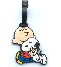 Snoopy Peanuts Bag Luggage Tags Travel Suitcase Baggage Holder Bag Pendant
