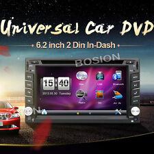"6.2"" 2 DIN Car Stereo GPS Navigation AutoRadio RDS Satnav MP3 CD DVD Player+Cam"
