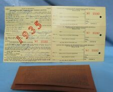 1935 Minnesota Non Resident Fishing License with Tab for Shipment (3) unused