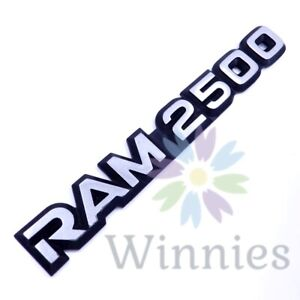 01 02 Dodge Ram 2500 Front Door 96-03 Van Rear Emblem Logo Badge OEM Mopar Side
