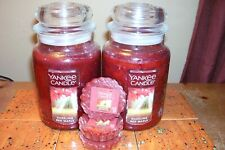 yankee candle 2-22oz JARS DAZZLING MAPLE + 3 TARTS