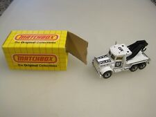 1981 Matchbox No. 61 Peterbilt Police Wrecker With Box  B7783