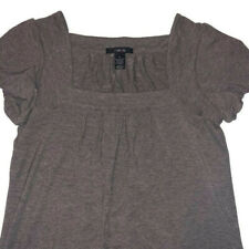 Style & Co Shirt Sz Small Brown Sparkle Glitter Short Sleeve Top Career Womans