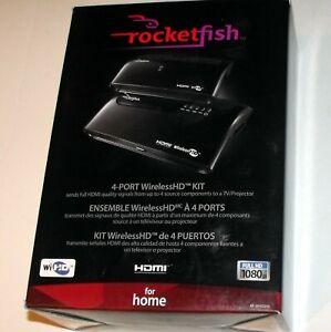 Rocketfish RF-WHD200 HDMI 4-Port Wireless HD Kit, Full HD 1080p