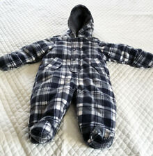 First Impressions Baby Snowsuit Outerwear Size 6-9 Months Blue Plaid