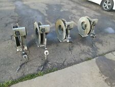 Lot Of 4 High Pressure Retractable Grease Reel And Hose With Meter