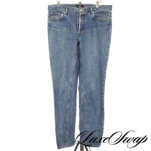 APC Paris Low Standard Medium Washed Blue Denim Dungarees Jeans 33 NR WEEKENDS