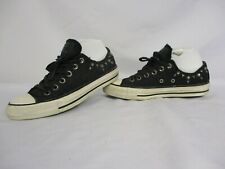 CONVERSE All Star Chuck Taylor Low Top Trainers, Black, Studs, UK 5, Eur 37.5