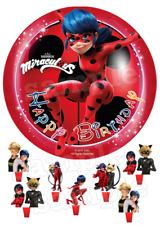 Miraculous Ladybug Cat Eßbar Tortenaufleger NEU Party Deko Geburtstag Kuchen dvd